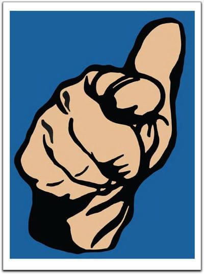Cameron Schaefer - Pointing Finger Blue