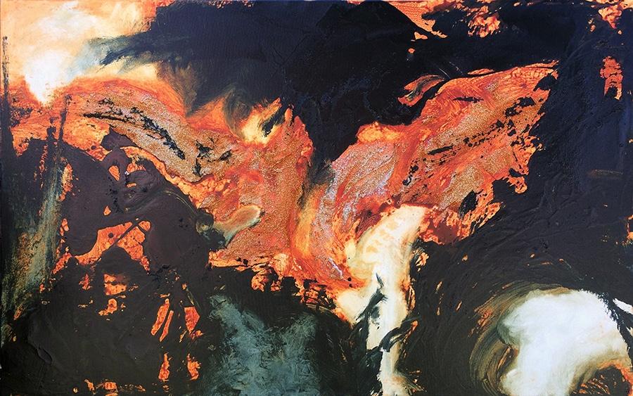 """Song of the Firebird - acrylic - 30""""x 48"""""""