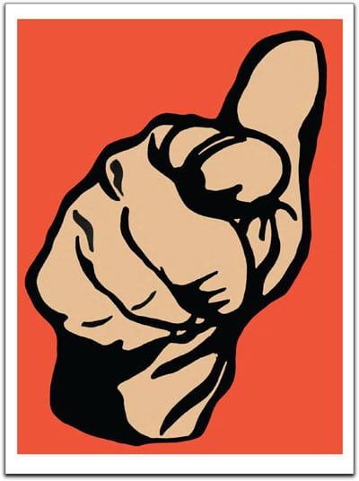 Cameron Schaefer - Pointing Finger Orange