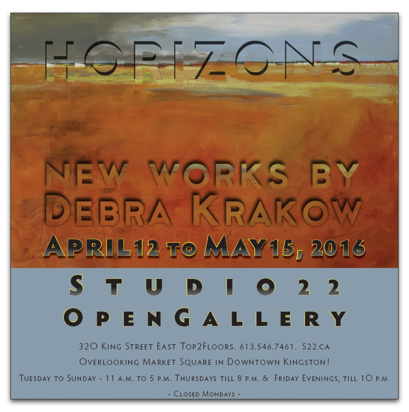 HORIZONS – New Works by Debra Krakow