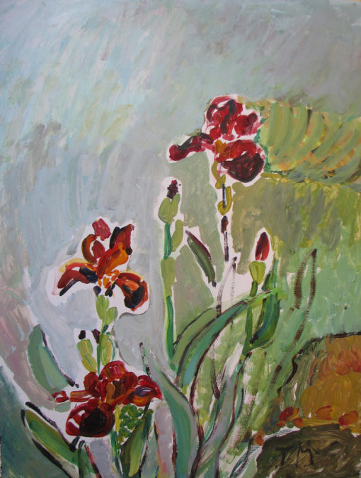 Sunny Irises 18''x24'' $850