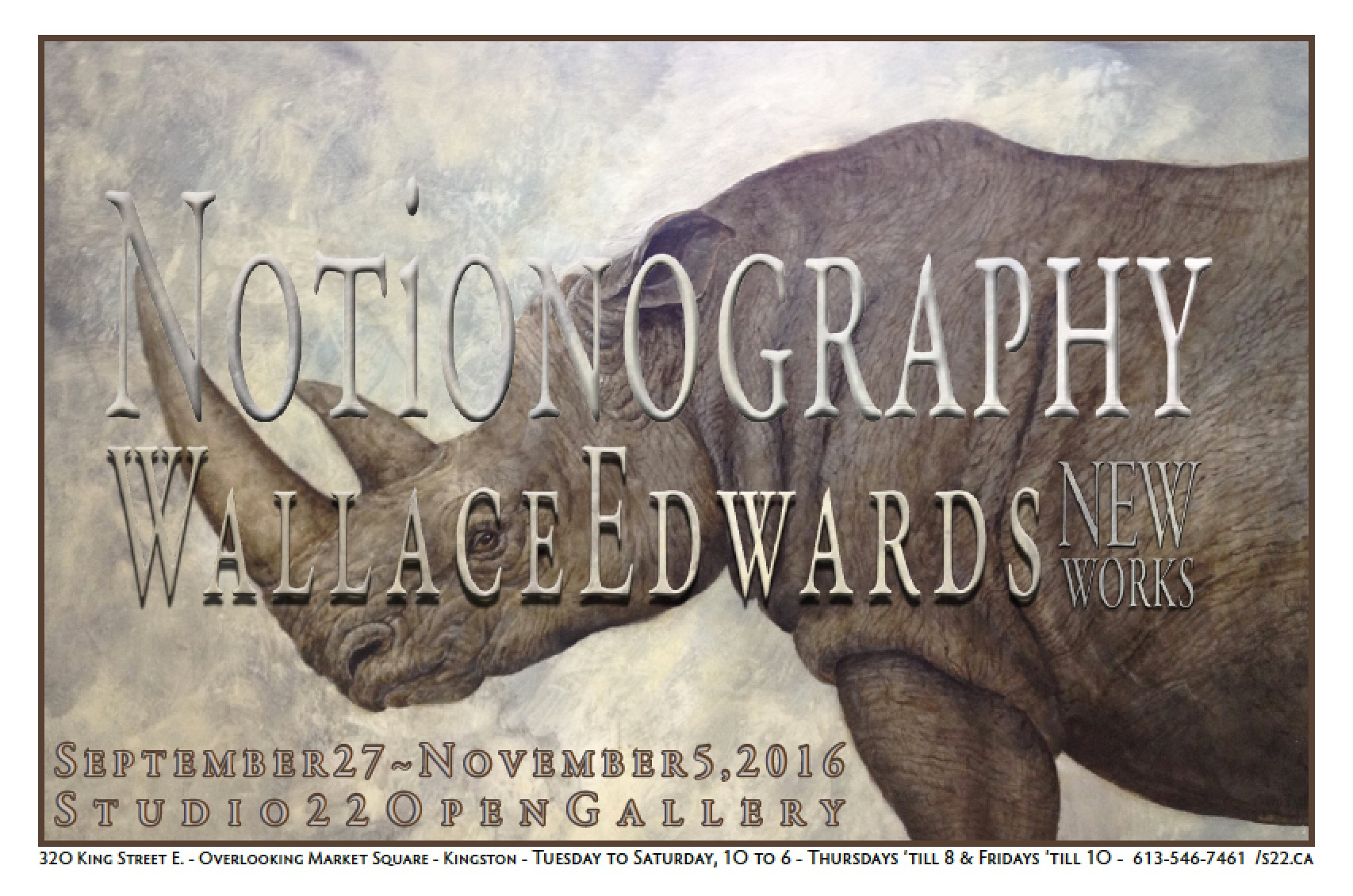 Notionography – New Works by Wallace Edwards