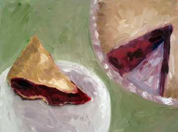 "Raspberry Pie - $400 - 9""x12"" - oil on board"