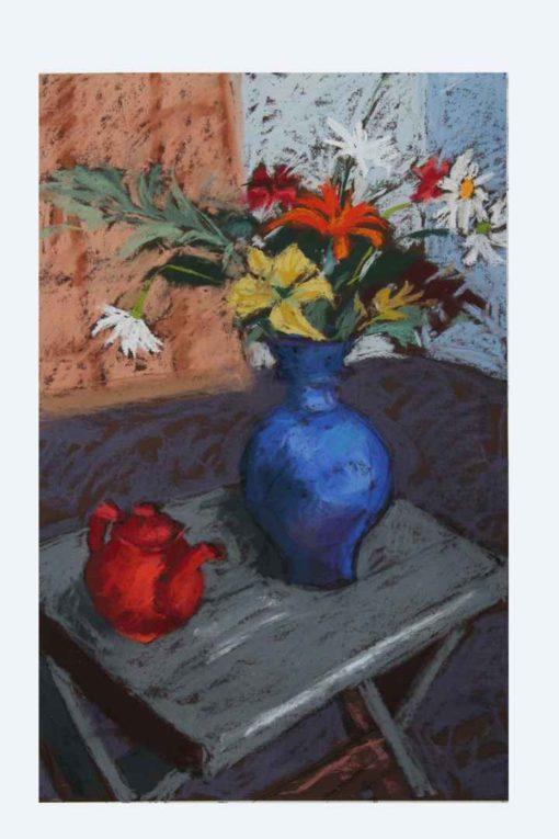Margaret Hughes - Blue Vase Red Teapot