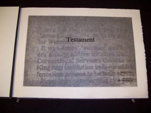 Rebecca Cowan - Testament-A-P
