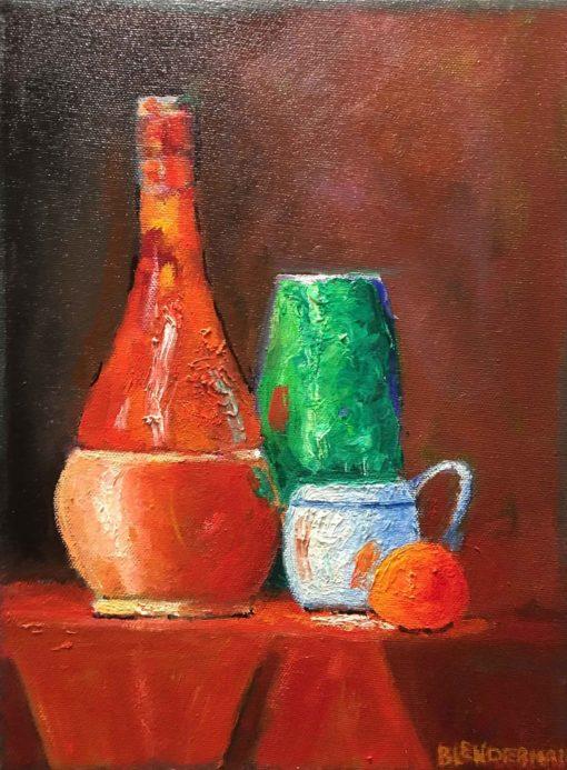 Robert Blenderman - Still Life in Red & Green