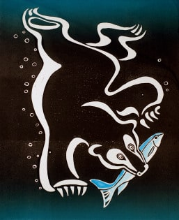 Vadim Vaskovsky - Bear Diving For Fish (black-green gradient)