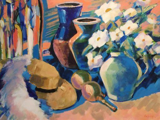 Vadim Vaskovsky - Still Life with Hat and Maracas