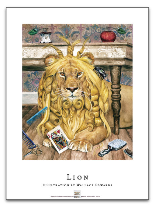 Wallace Edwards - Lion Poster