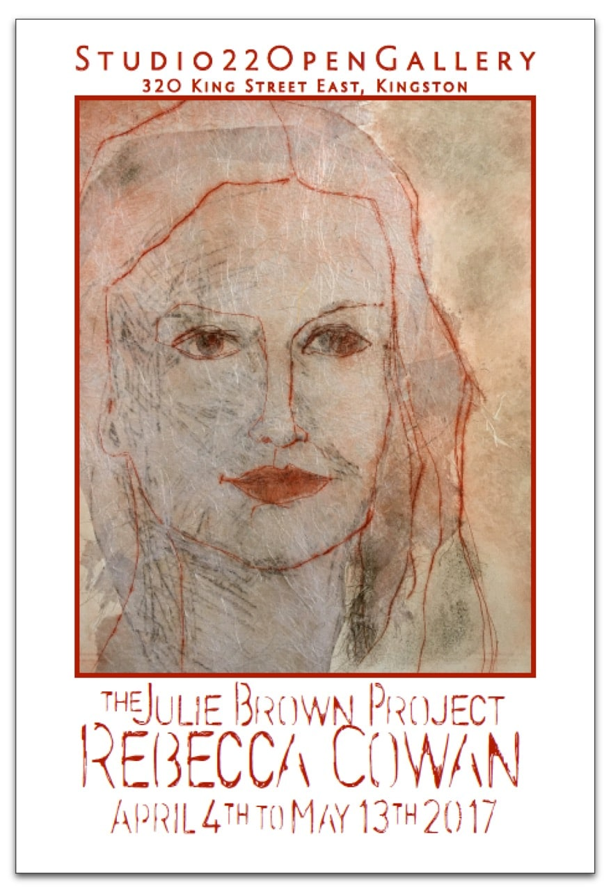 The Julie Brown Project – Drypoint by Rebecca Cowan
