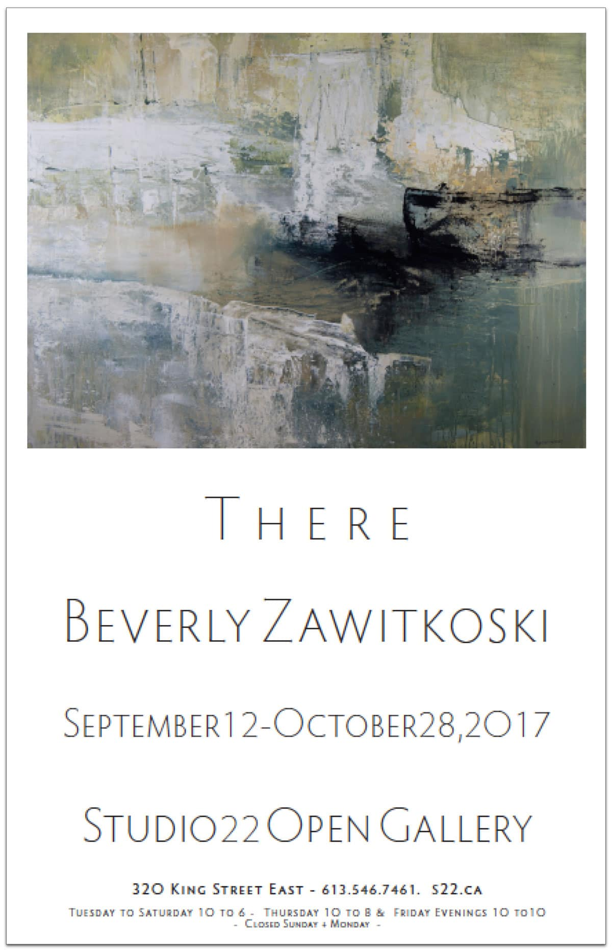THERE – New Acrylic Paintings by Montreal Artist Beverly Zawitkoski