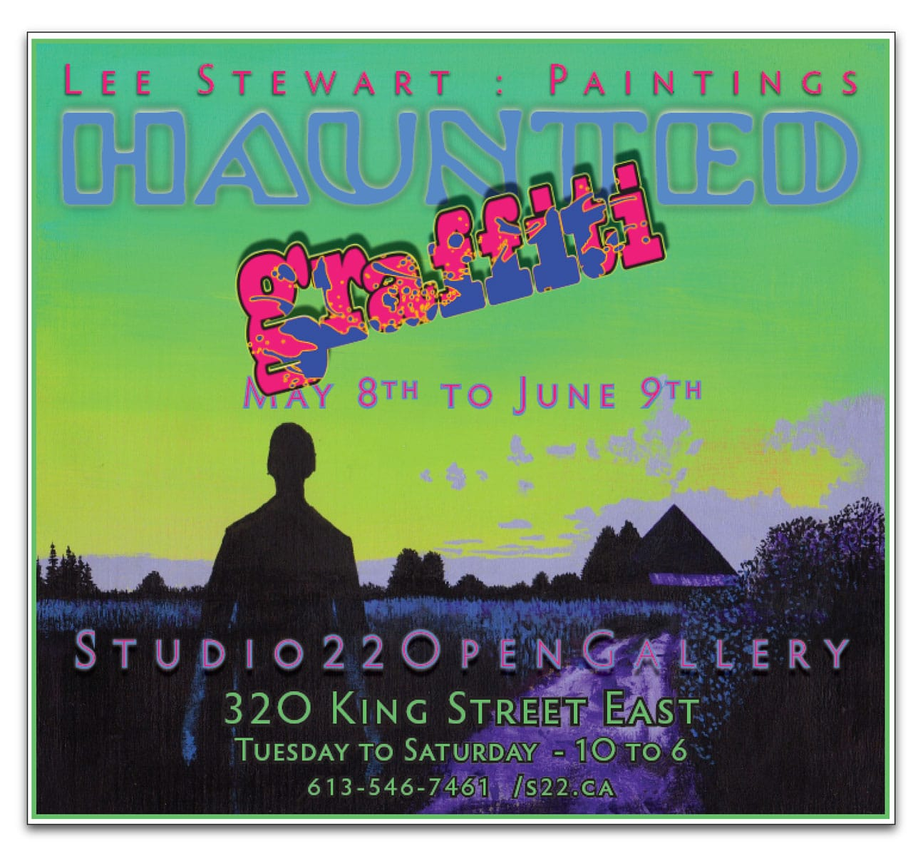HAUNTED GRAFFITI – New paintings by Lee Stewart