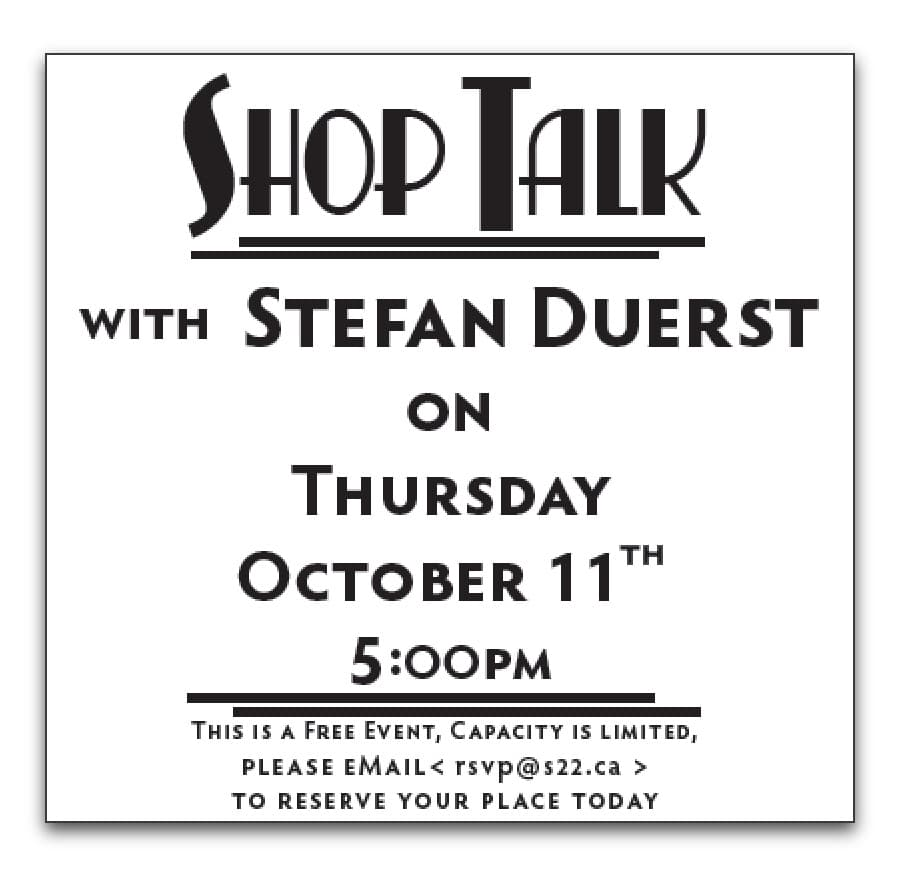 Event Review: SHOP TALK with Stefan Duerst