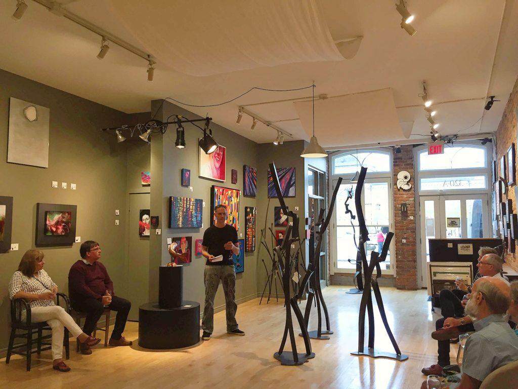 Stefan Duerst speaking during the Shop Talk event at Studio 22