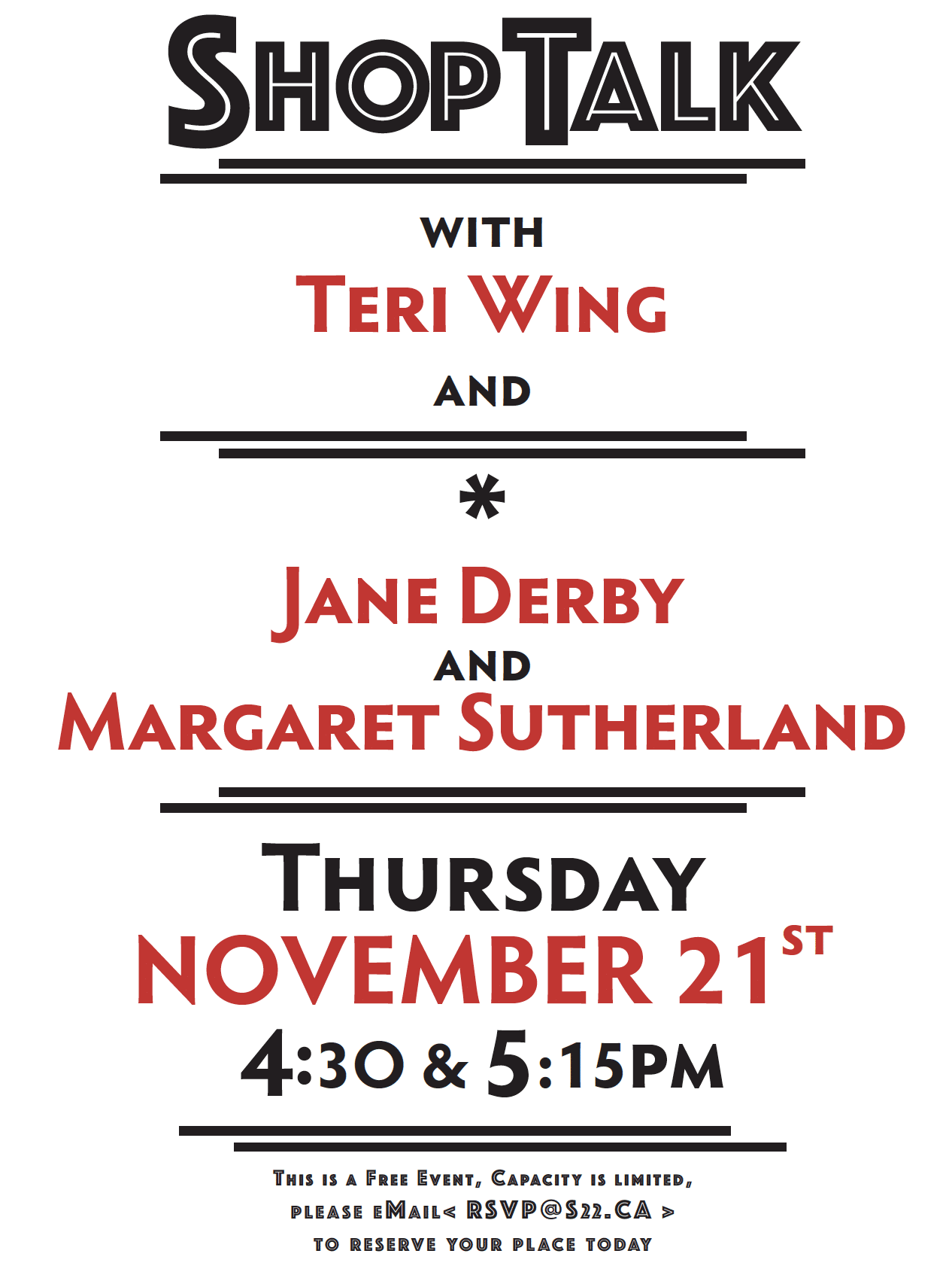ShopTalk with Teri Wing, Margaret Sutherland and Jane Derby
